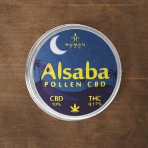 C'est du pollen de CBD ou hashish de CBD fabriqué avec du Cannabis CBD. Il est dans une boite sur mesure.